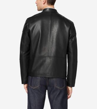 Cole Haan Front Zip Moto Jacket