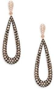 Effy 14K Rose Gold & Diamond Teardrop Earrings