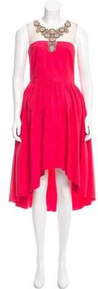 Marchesa Delighted High-Low Dress Coral Delighted High-Low Dress