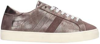 D.A.T.E Hill Low Sneakers In Bronze Leather