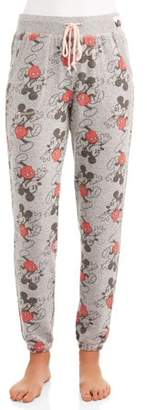 Disney Women's and Women's Plus Mickey Mouse Pajama Ankle Pajama Pant