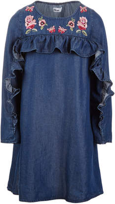 Epic Threads Toddler Girls Ruffle-Trim Embroidered Shift Dress, Created for Macy's