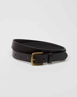 Abercrombie & Fitch 1-Inch Leather Belt