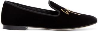 Giuseppe Zanotti Black Velvet Loafers $750 thestylecure.com