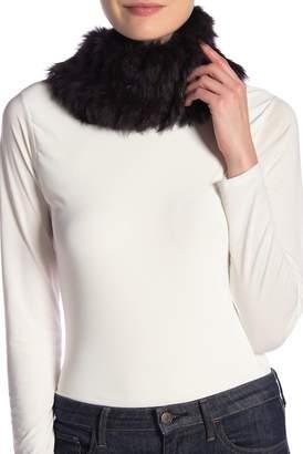 Theory Genuine Rabbit Fur Soft Scarf