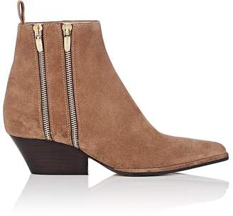 Sergio Rossi Women's Double-Zip Suede Ankle Boots