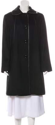Sofia Cashmere Wool Knee-Length Coat w/ Tags