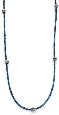 King Baby Studio Hematite& Skull Necklace