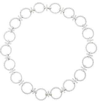 Cathy Waterman Platinum Diamond Circle Collar Necklace