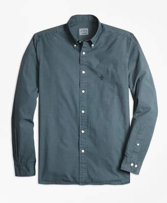 Brooks Brothers Garment-Dyed End-On-End Broadcloth Sport Shirt
