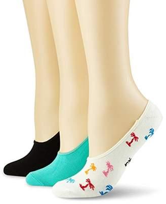 Happy Socks Women's Limer Palm Beach/Stripe Ankle Socks,pack of 3