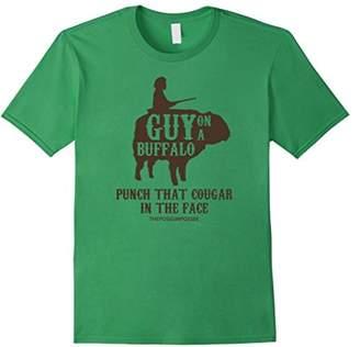 Buffalo David Bitton Guy on a Shirt ~ Possum Possee Funny Graphic Tee