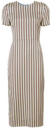 Diane von Furstenberg slim fit striped dress