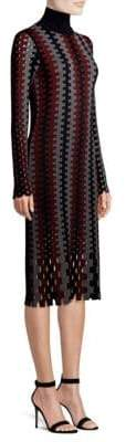 Diane von Furstenberg Wool Turtleneck Midi Dress