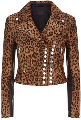 Alexander Wang Leopard Haircalf Moto Jacket