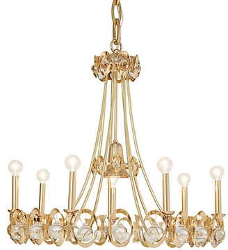 Global Views Jewel Tangle Chandelier - Polished Brass
