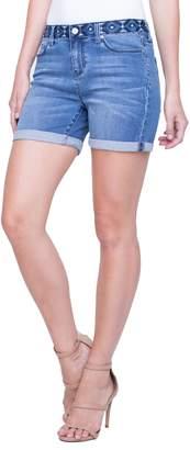 Liverpool Vickie Embroidered Waist Denim Shorts