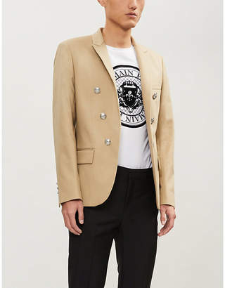 Balmain Button-embellished cotton jacket