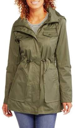 Yoki Women's Hooded Anorak With Cinched Waist