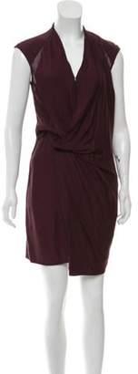 Helmut Lang Mini Mesh-Trimmed Dress Mini Mesh-Trimmed Dress