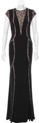 Jovani Lace Paneled Dress