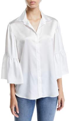 Finley Naomi Satin Button-Front Shirt