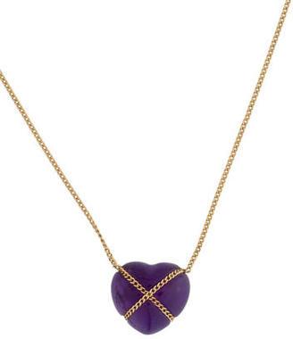 Tiffany & Co. 18K Amethyst Heart Pendant Necklace $445 thestylecure.com