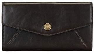 Maxwell Scott Bags Ladies Brown Full Grain Leather Ball Clasp Purse
