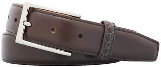 Bryant Park Monte Carlo Leather & Alligator Leather Belt