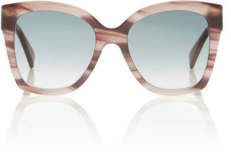Gucci Marbled Acetate Square-Frame Sunglasses