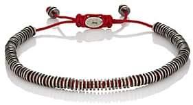M. Cohen Men's Mixed-Rondelle Bracelet - Red