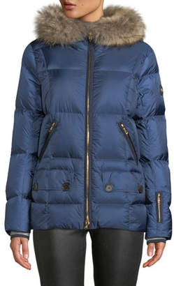 Bogner Miri Puffer Coat w/ Removable Fur Trim