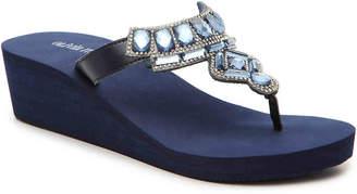 OLIVIA MILLER Tiara Wedge Flip Flop - Women's