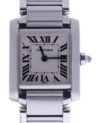 Cartier Tank Francaise 2300 Stainless-Steel Quartz 20mm Womens Watch