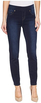 Tribal Pull-On Ankle 28 Dream Jeans in Navy Blast