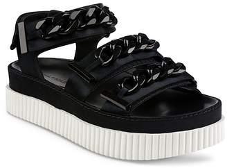 KENDALL + KYLIE Women's Ivie Satin Chain Platform Sandals