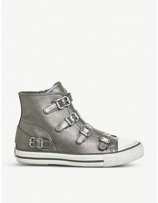 Ash Virgin metallic leather high-top trainers