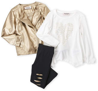 Juicy Couture Toddler Girls) 3-Piece Faux Leather Jacket & Leggings Set