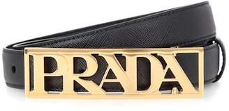 Prada Leather logo belt