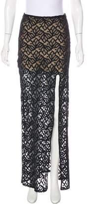 For Love & Lemons Lace Maxi Skirt
