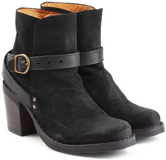 Fiorentini+Baker Suede and Leather Buckle Strap Ankle Boots