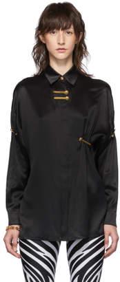 Versace Black Safety Pin Shirt