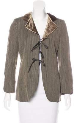 Armani Collezioni Draped Patterned Blazer