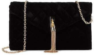 ... La Regale Velvet Quilted Shoulder Clutch 7875534b81ab8