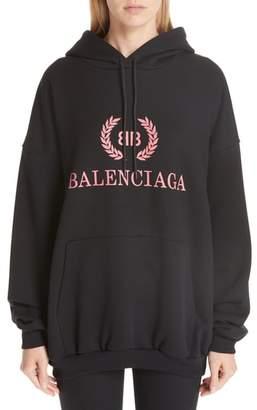 Balenciaga Wreath Logo Hoodie