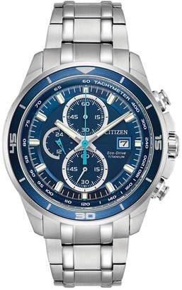 Citizen Men's Chronograph Eco-Drive Titanium Bracelet Watch 43mm CA0349-51L
