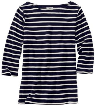 b10c41b870 L.L. Bean L.L.Bean Women's French Sailor's Shirt, Three-Quarter-Sleeve  Boatneck