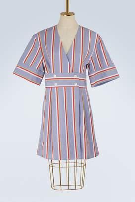 MAISON KITSUNÉ Sally striped dress