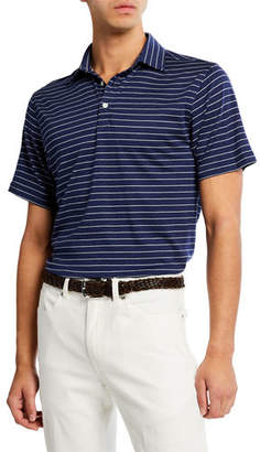 Peter Millar Men's Crown Cool Stripe Polo Shirt