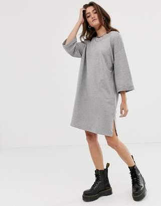 Noisy May 2/3 sleeve sweatshirt dress in gray